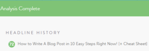 how to write a blog post title score in coschedule headline analyzer