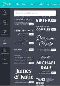 when you write a blog post, use font combinations from canva