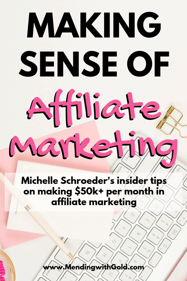 Making sense of affiliate marketing review: If you are a beginner blogger wanting to learn affiliate marketing then you must have come across Michelle Schroeder's blog income reports. This post is a review of her course on affiliate marketing and if it's worth the money or not. Click to find out everything you've wanted to know about this course. #affiliatemarketing #blogtips #makingsenseofaffiliatemarketing #makingsenseofaffiliatemarketingreview