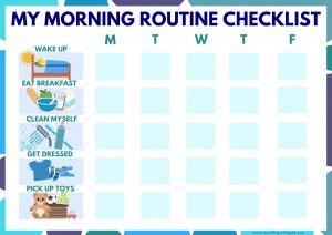 Free Printable Kids Morning Routine Checklist