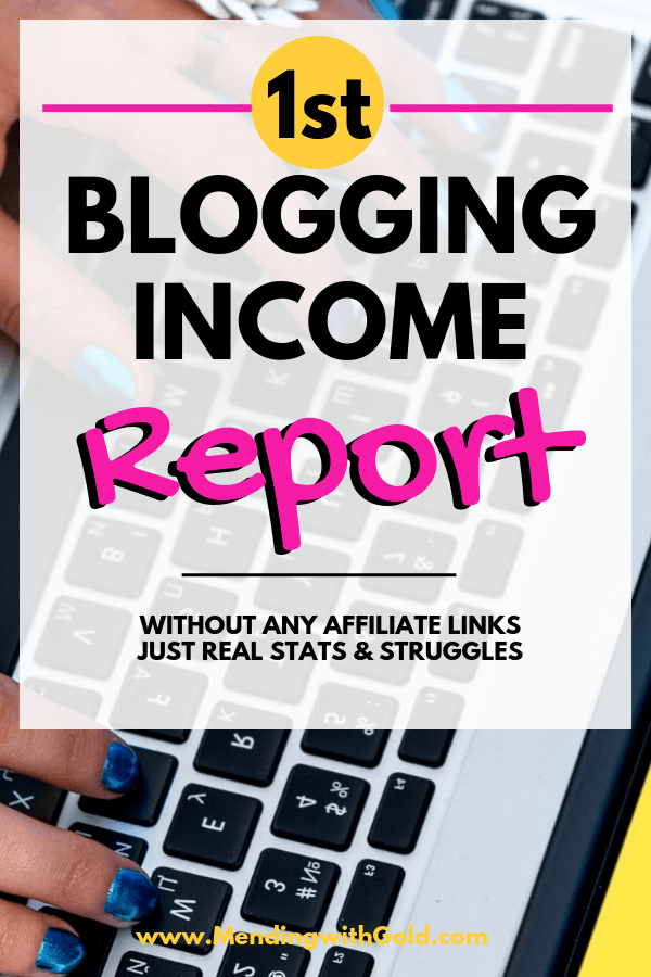 My first blog income report + & blogging tips for beginners. I wanted to track my October 2018 progress and November blogging goals in this post as I work from home to build my dream business. If you're trying to figure out how to make money with your mom blog working at home, you need to know the struggles that go in. #blogincomereport #blogtips #bloggingforbeginners #bloggingformoney