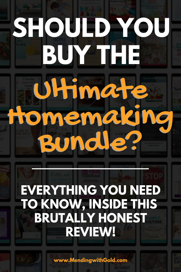 Ultimate homemaking bundle is 100+ housekeeping resources. Ebooks, printables, binders, courses, gifts + other forms of learning & help, advice, tips, hacks, ideas, skills, projects about marriage, motherhood, homeschooling kids, finances, saving money, simple living, meal planning, healthy recipes, health, outfit mastery, working from home, cleaning, DIY, how to organize, declutter, home décor for working moms+a stay at home mom too! Feeling overwhelmed? Click to find out if it's for you.