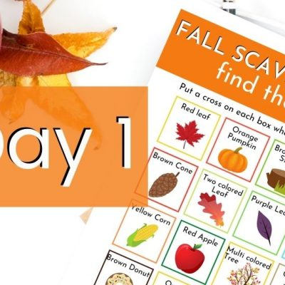 printable fall scavenger hunt image