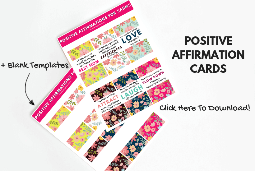 picture regarding Free Printable Affirmation Cards called Guaranteed Affirmations For Mothers Who Have to have Encouragement (+Free of charge