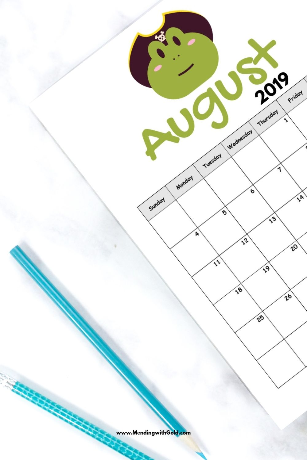august calendar printable for kids