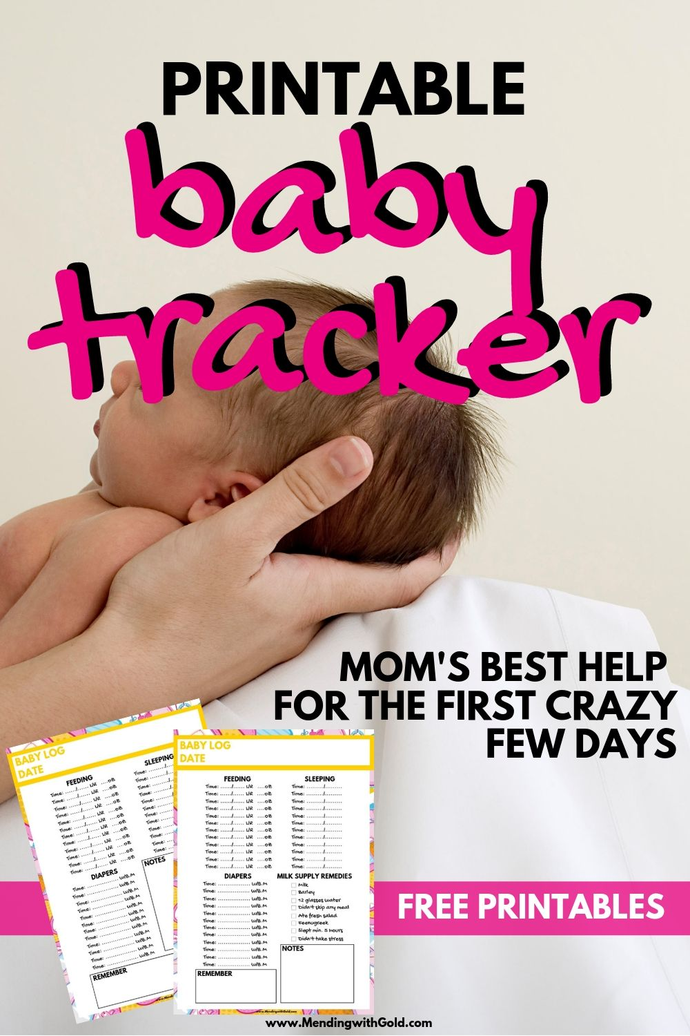 baby tracker printable
