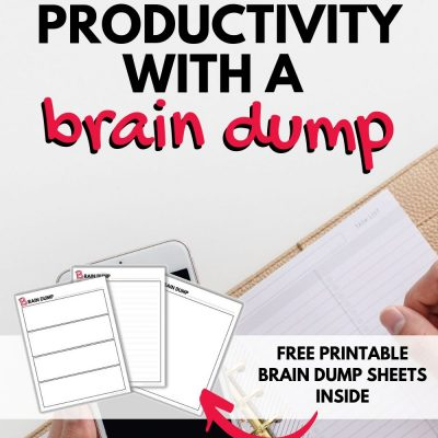 picture relating to Brain Dump Worksheet titled Cluttered Head? Test Decluttering With A Head Dump! (+Totally free