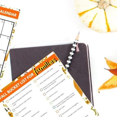 fall bucket list ideas post featured image with fall bucket list printable displayed