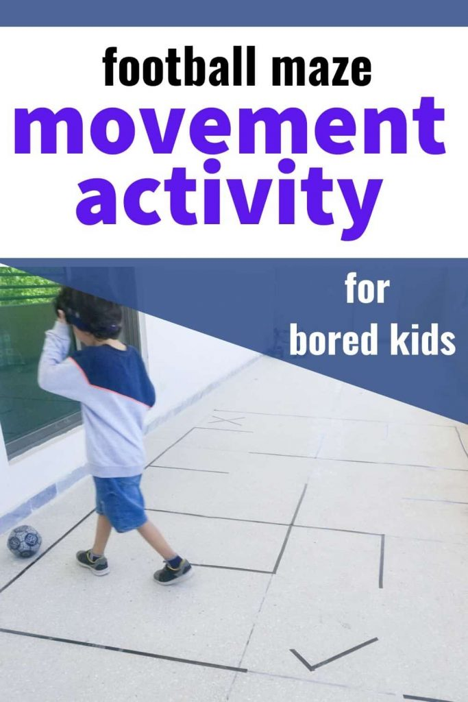 football maze gross motor movement activity for bored toddlers and preschoolers at home