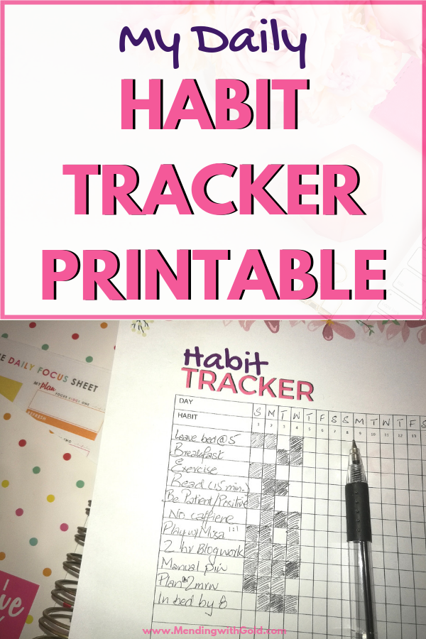 picture regarding Daily Habit Tracker Printable called 101 Practice Tracker Guidelines For SAHMs (+Totally free Straightforward Practice