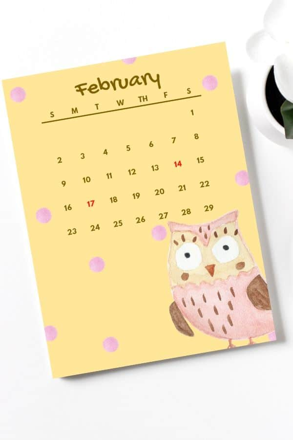 holiday-february-2020-calendar-for-kids-owl-themed-design