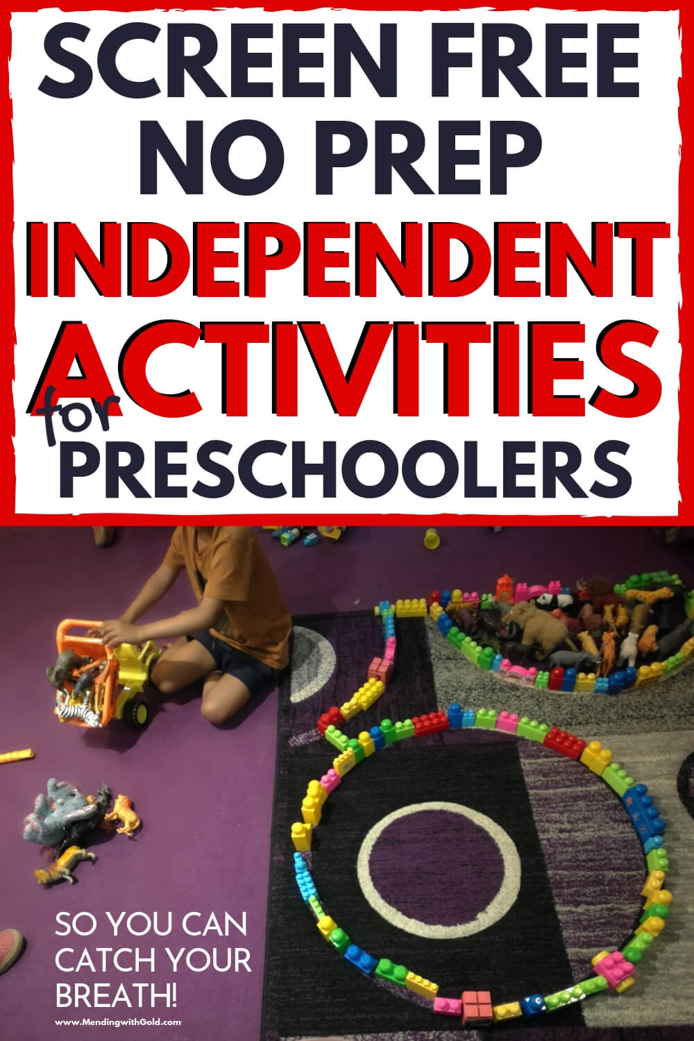 independent screen free activities for pre-schoolers pin 2