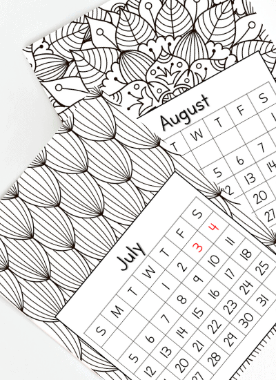 july and august 2020 calendar printables