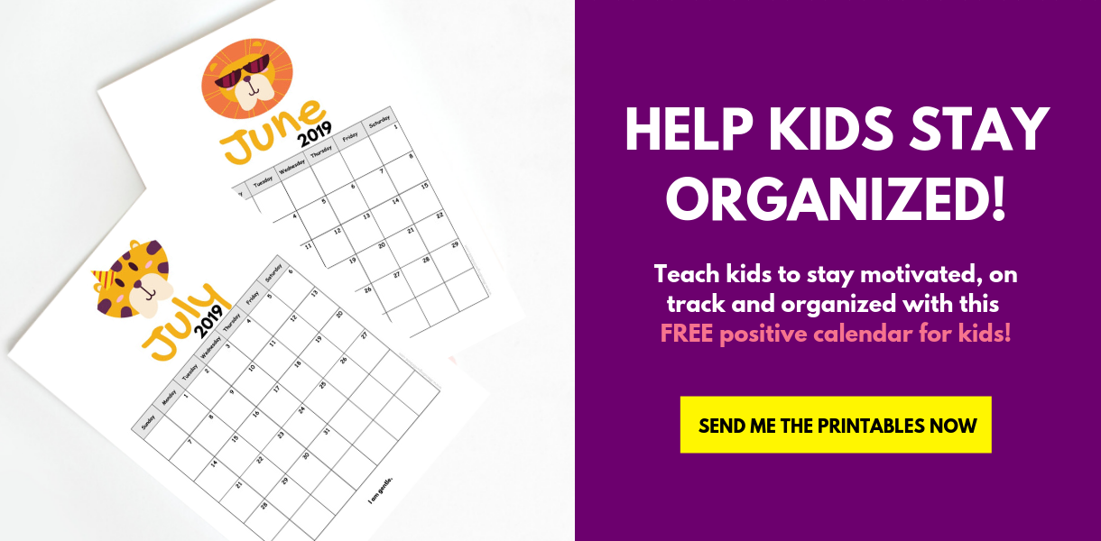 Sign Up To Grab The FREE Printable Children's Calendar 2019!