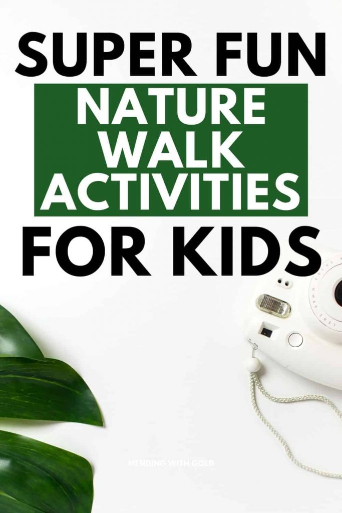nature walk activities pin image