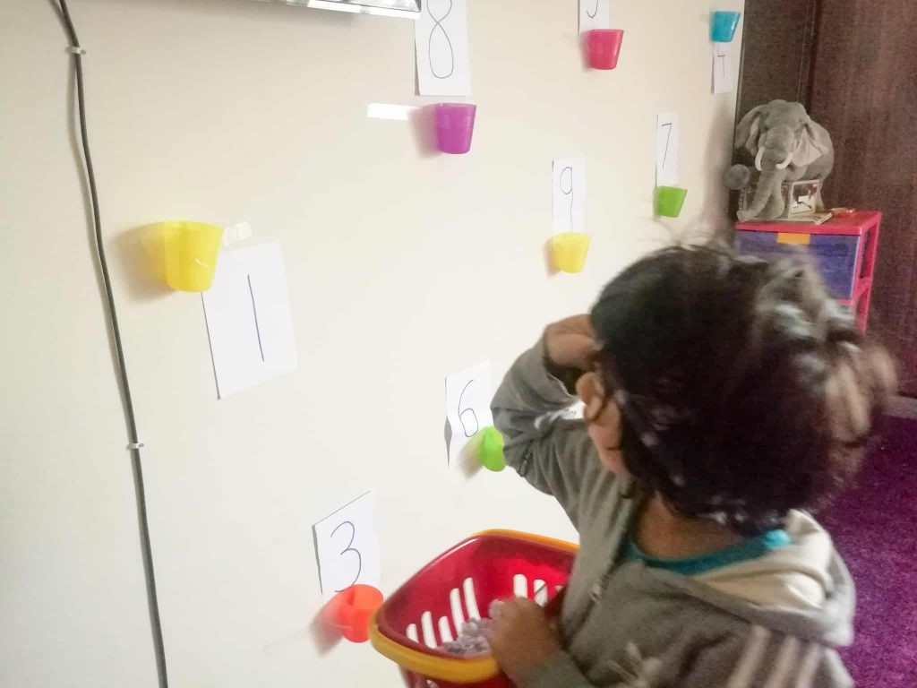 Indoor Gross Motor Activities For Preschoolers working on math
