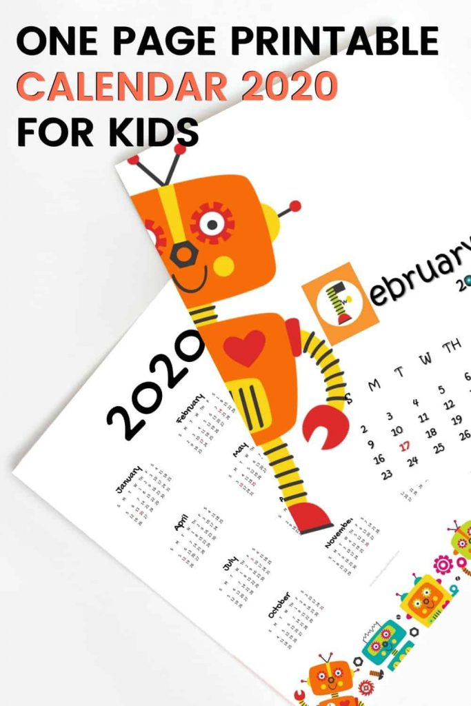 one-page-printable-calendar-2020-for-kids