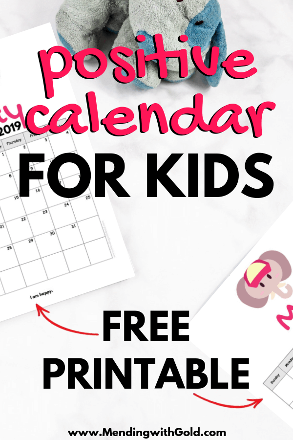 positive calendar for kids