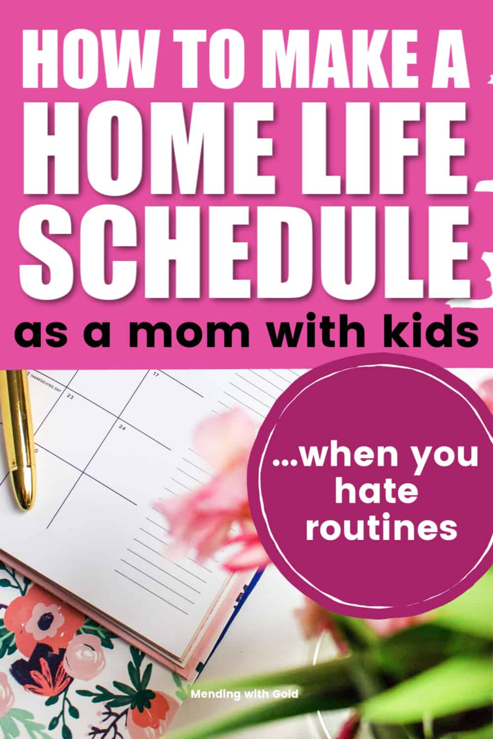 stay at home mom schedule pin image