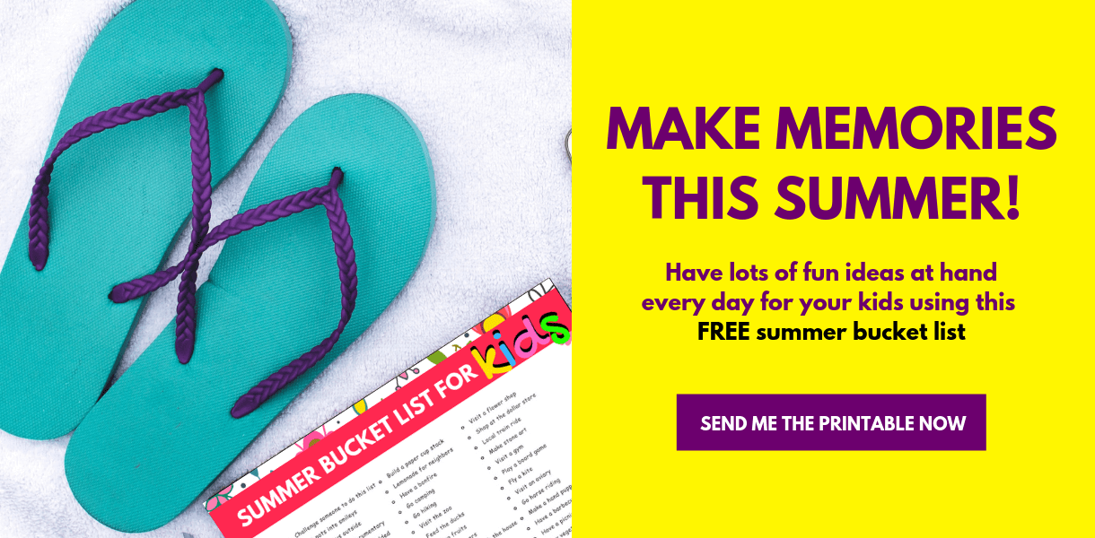 Sign up to access your Free Summer Bucket List For Kids