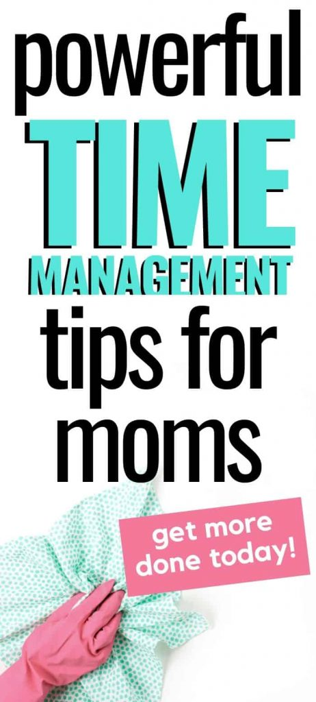 time management tips for moms pin image