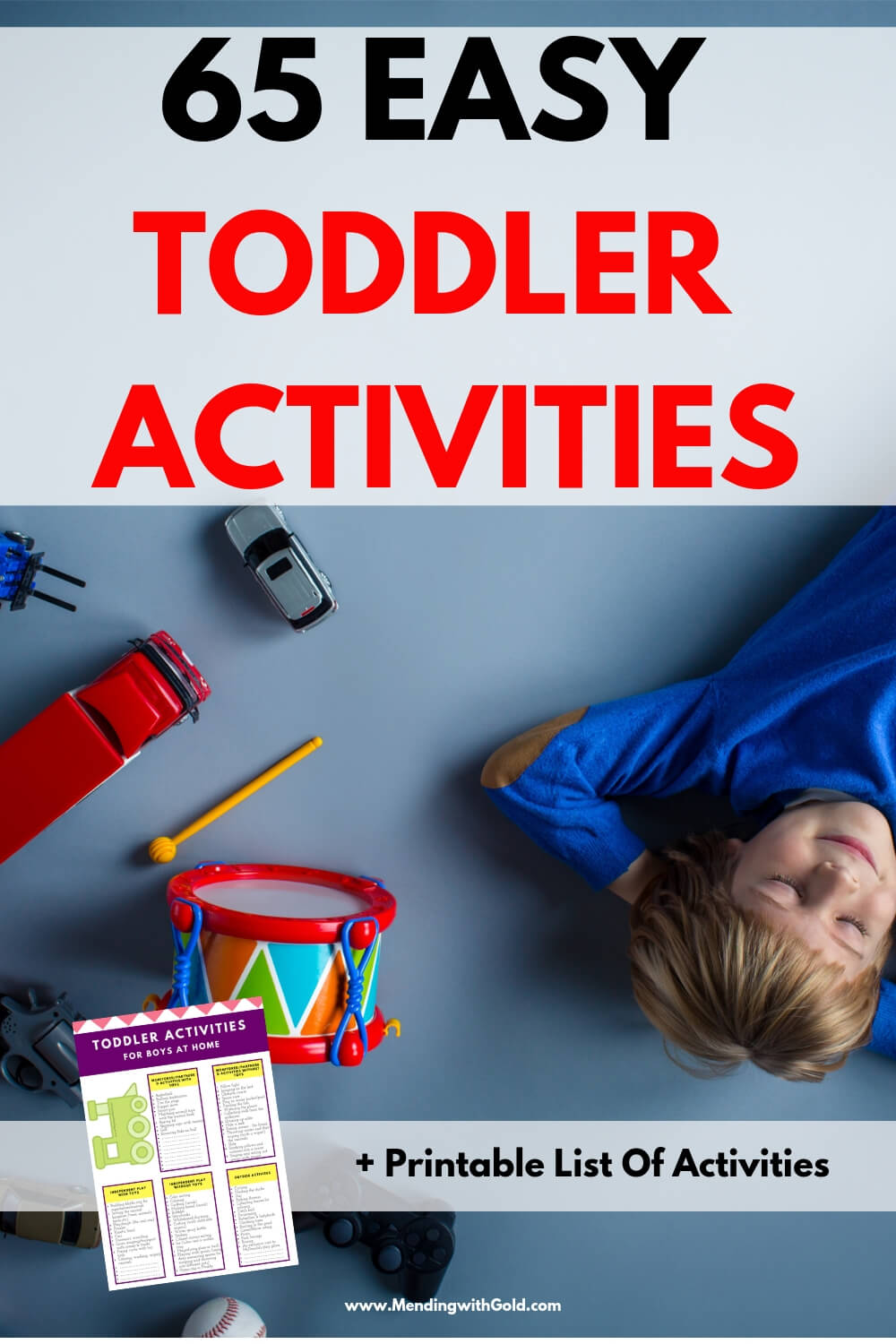Raising kids (toddlers and pre-schoolers!) is not easy! Great ideas for how to wear out a toddler indoors! Use these recreational activities for pre-schoolers and toddlers who are bored but YOU'RE busy! Includes quiet activities for 3-5 year olds, outdoor activities for 3-5 year olds and even some open ended activities for 3 year olds. Fun toddler activities for boys at home who are bored + free printable #mom #toddlers #preschoolers #stayathomemom #momlife #momadvice #kidsandparenting